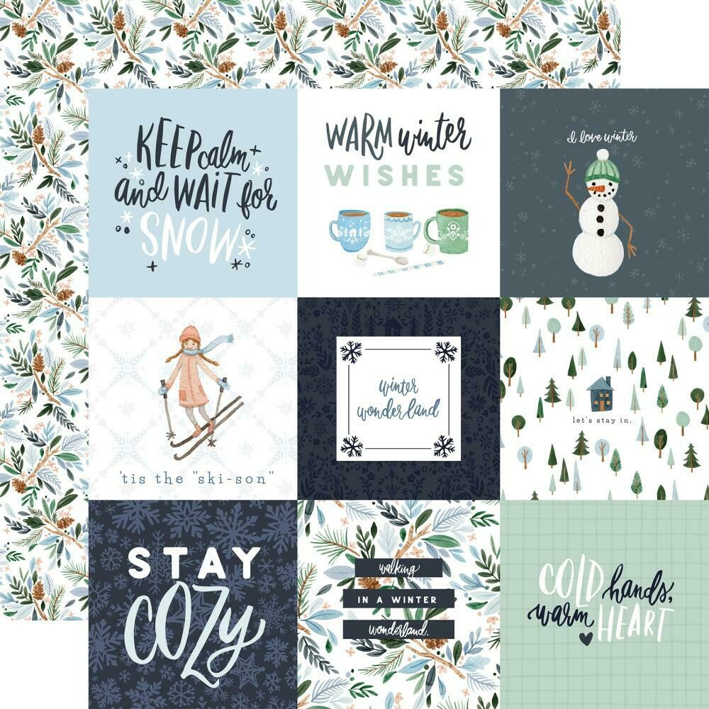 "Carta Bella Winter Market-4""X4"" Journaling Cards- 12""X12"" sheet"