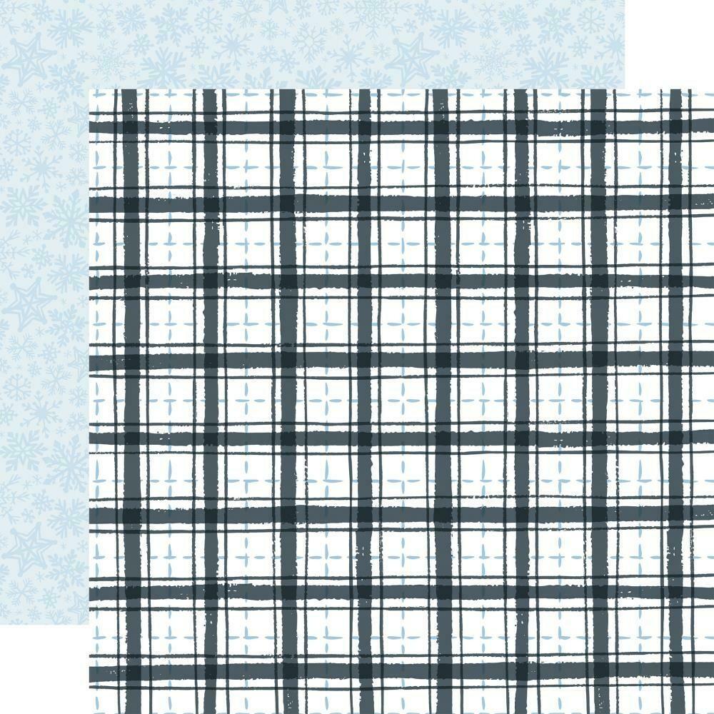 "Winter Market-Frosty Plaid- 12""X12"" sheet"