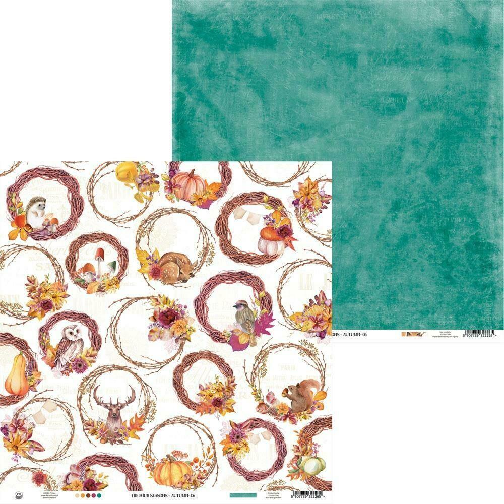 """P13 The Four Seasons-Autumn #6 12""""X12"""" Sheet"""