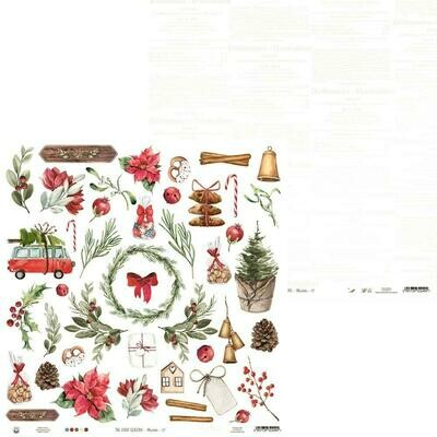 "P13 The Four Seasons-Winter #7 12""X12"" Cut Apart Sheet"