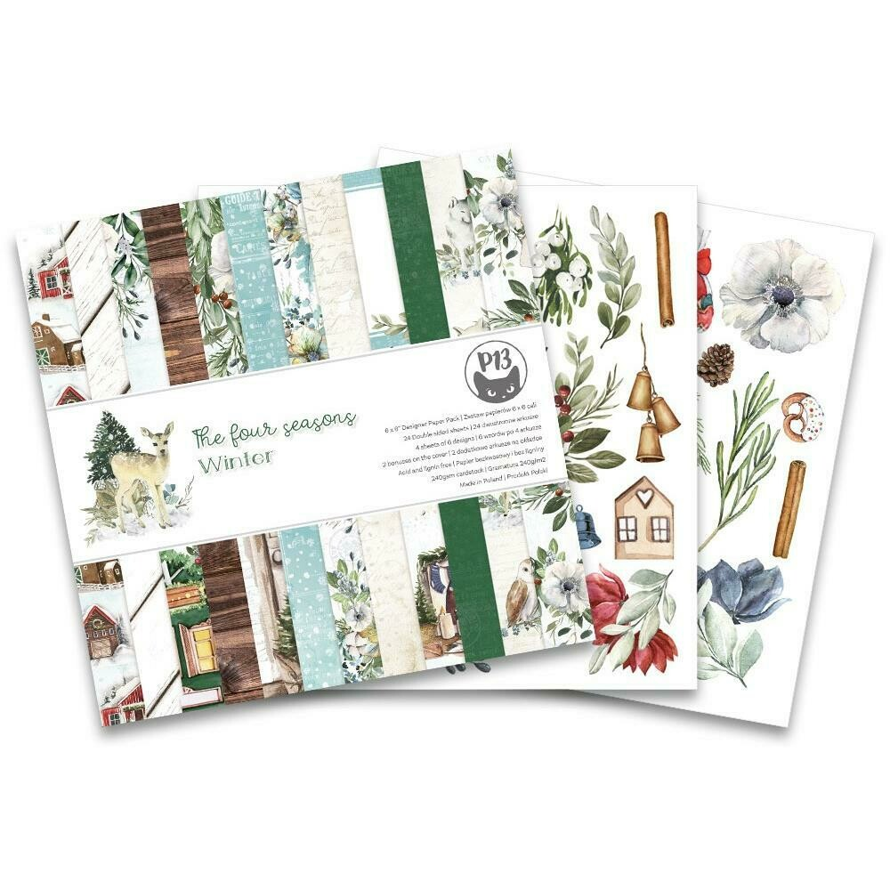 """P13 Double-Sided Paper Pad 6""""X6"""" 24/Pkg The Four Seasons-Winter"""
