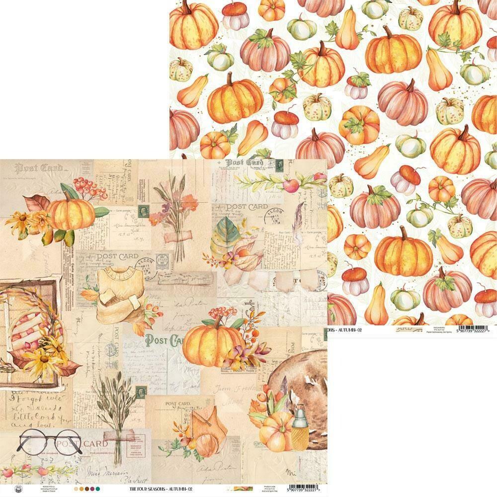 """P13 The Four Seasons-Autumn #2 12""""X12"""" Sheet"""