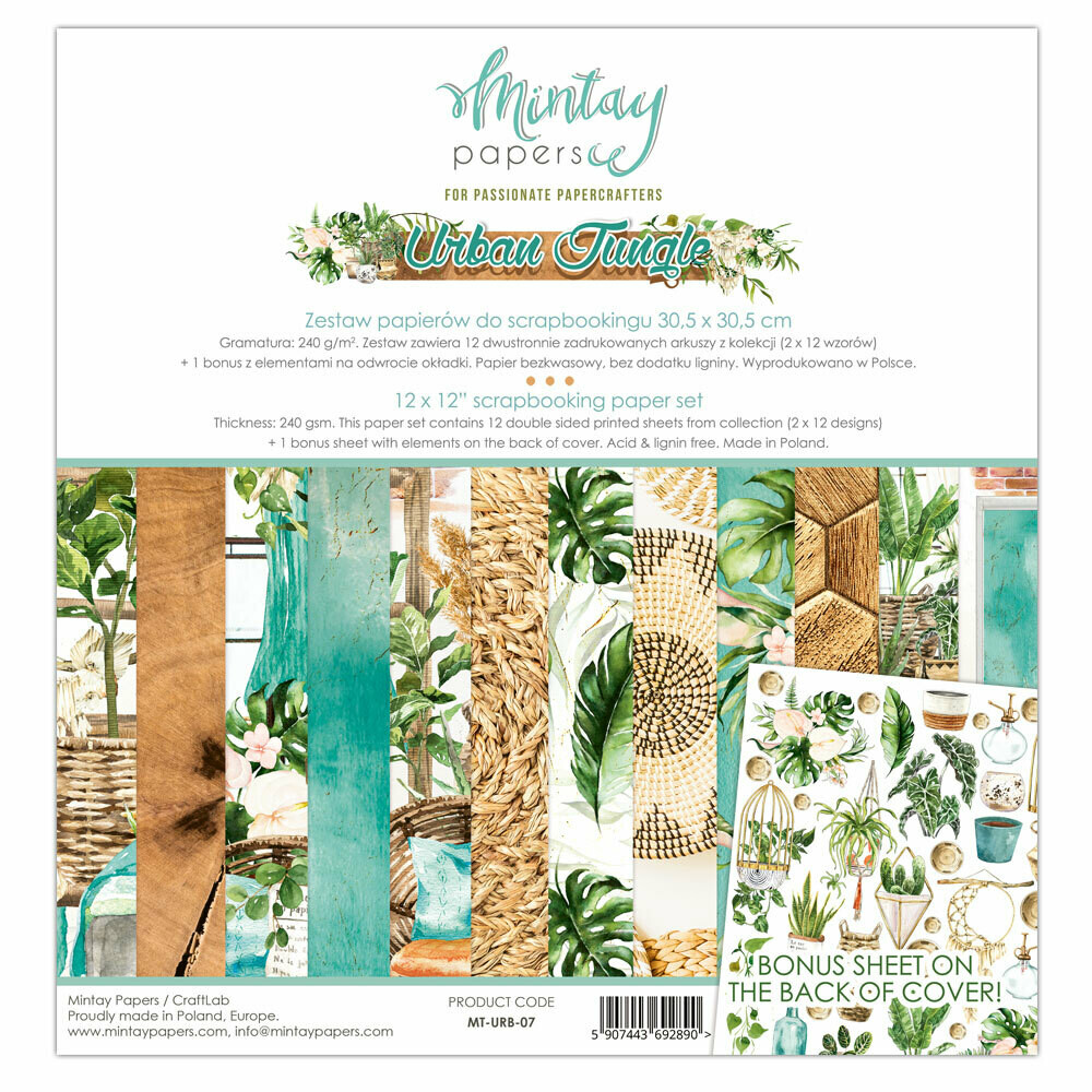 Mintay Papers URBAN JUNGLE 12 x 12 collection pack