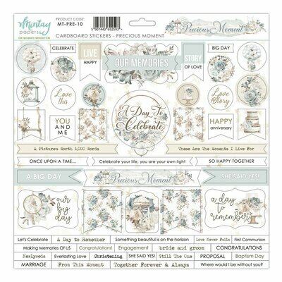 Mintay Papers PRECIOUS MOMENT 12 x 12 chipboard sticker sheet