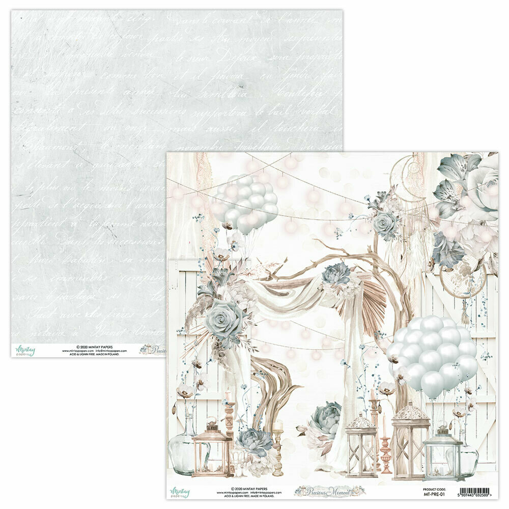 Mintay Papers PRECIOUS MOMENT 12 x 12 sheet #1