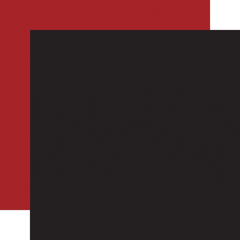 Let's Lumberjack Echo Park Double-Sided Cardstock Dark Red/Black