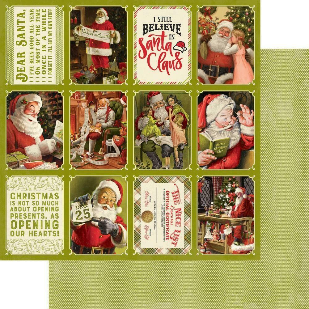 "Authentique A Magical Christmas #8 12""X12"" Paper Sheet"