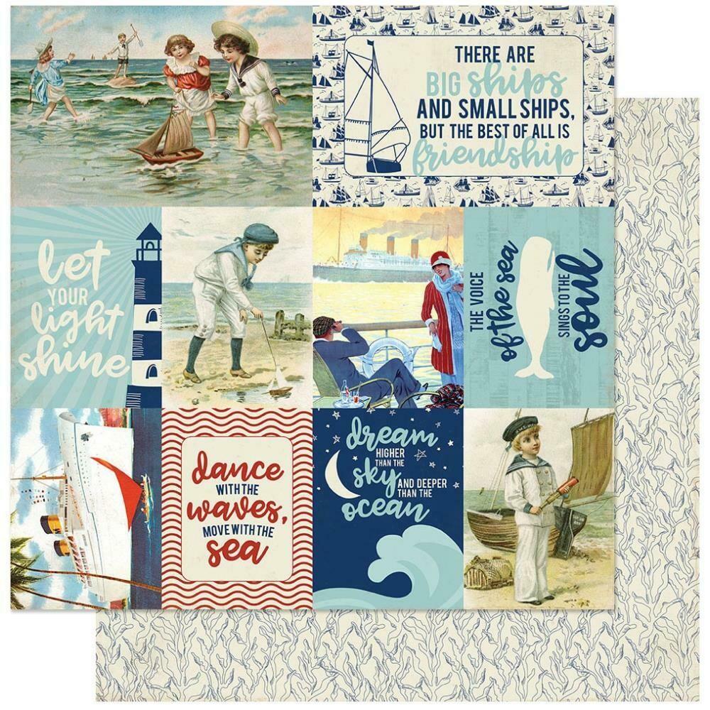 """Authentique Voyage #11 12""""X12"""" Paper Sheet"""