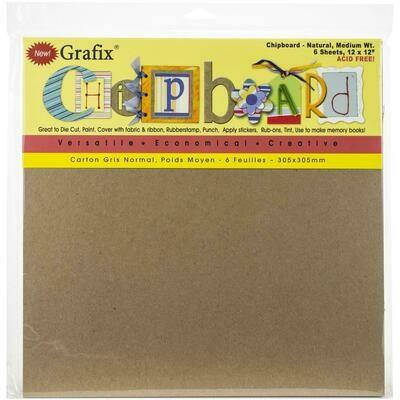 Grafix Medium Weight Chipboard Sheets 12