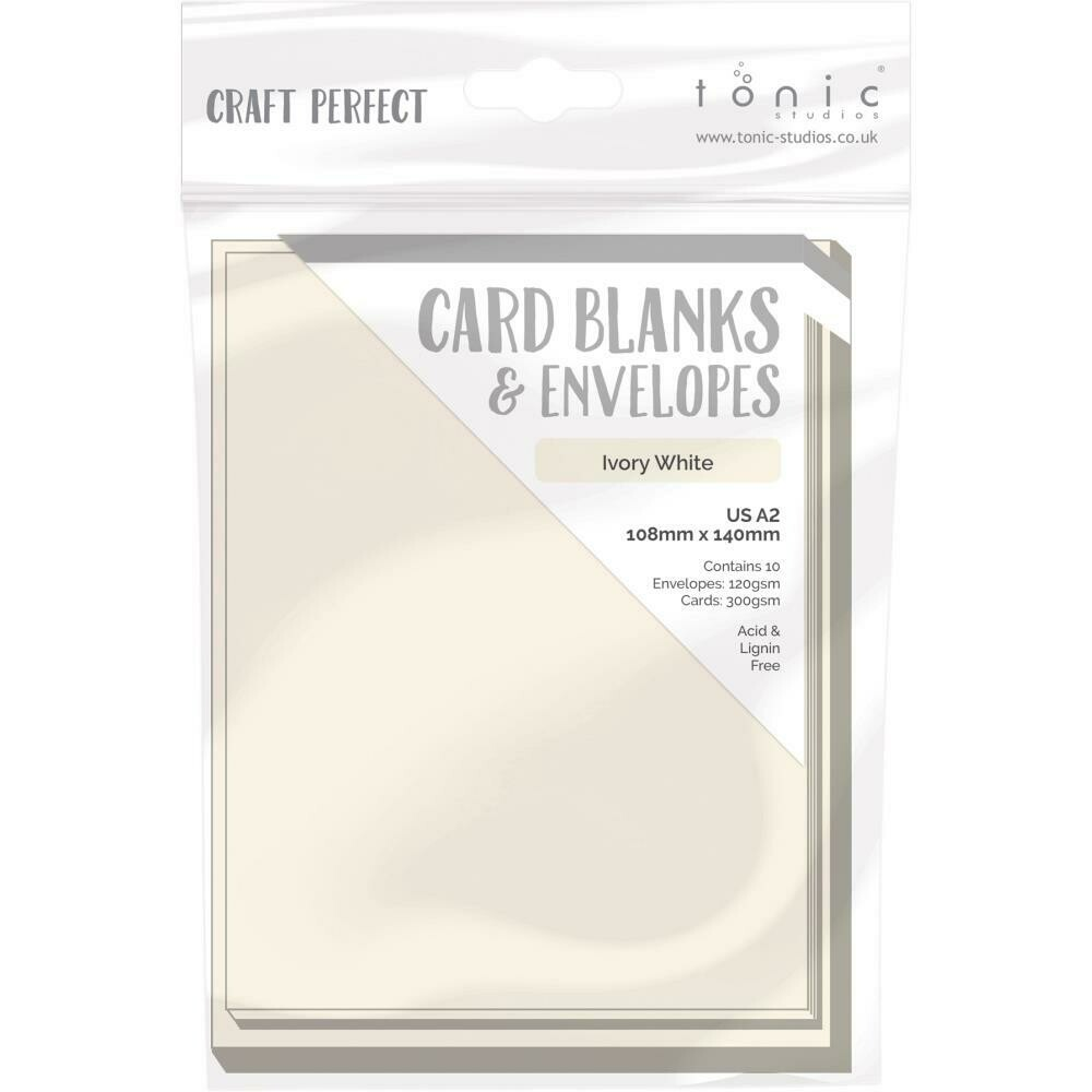 Craft Perfect Card Blanks US A2 Ivory White