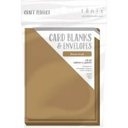 Craft Perfect Card Blanks US A2 Brown Kraft