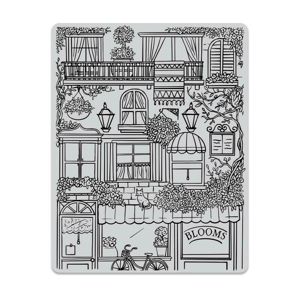"""Hero Arts Cling Stamp 4.6""""X5.88"""" Flower Shop Background"""