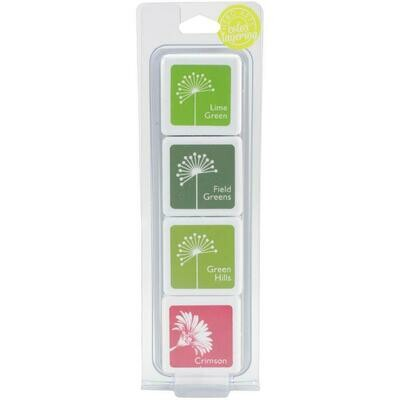 Hero Arts Dye Ink Cubes 4/Pkg Amy's Shades Of Green