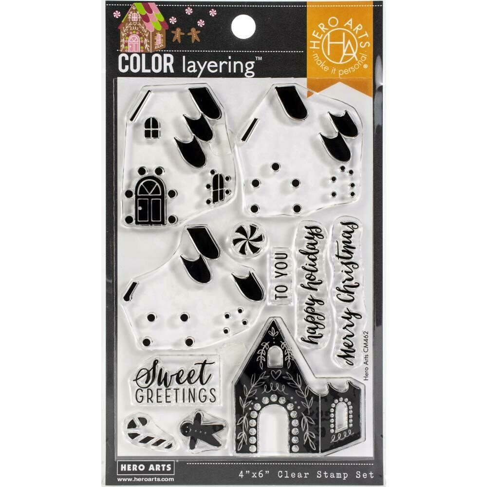 "Hero Arts Color Layering Clear Stamps 4""X6"" Gingerbread House"