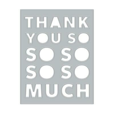 Hero Arts Fancy Dies Thank You Message Cover Plate