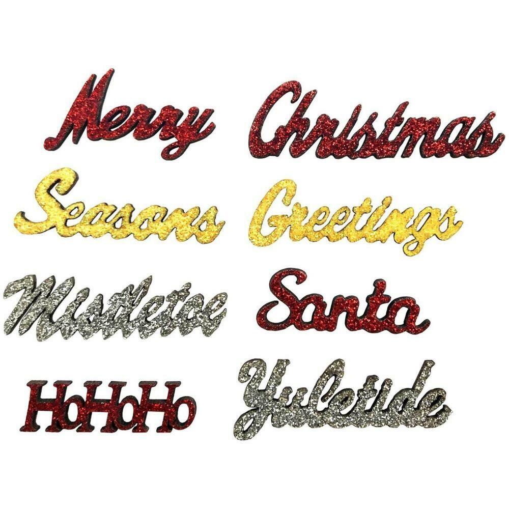 Sparkling Sentiments 8/Pkg - Christmas