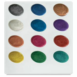 Kuretake Zig Zig Watercolor System, pearlescent Watercolor Jewel box (12 Colors)