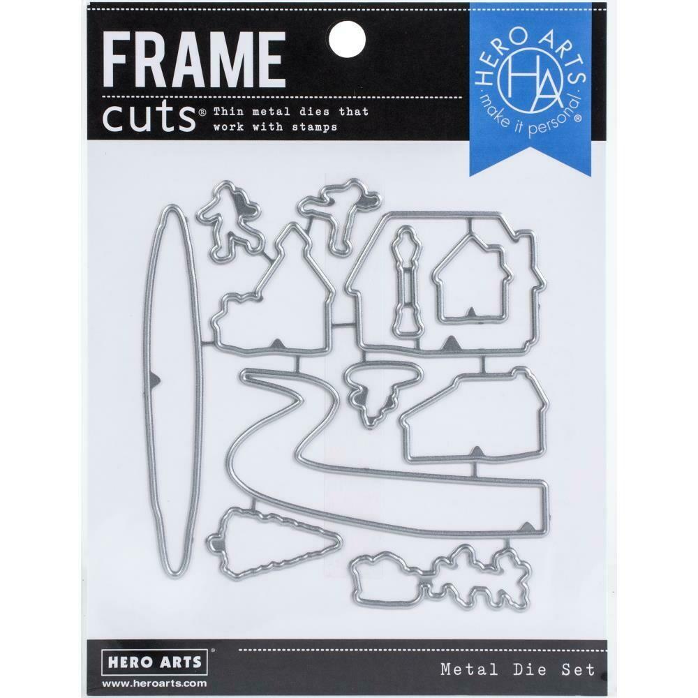 Hero Arts Frame Cut Dies Snowy Town