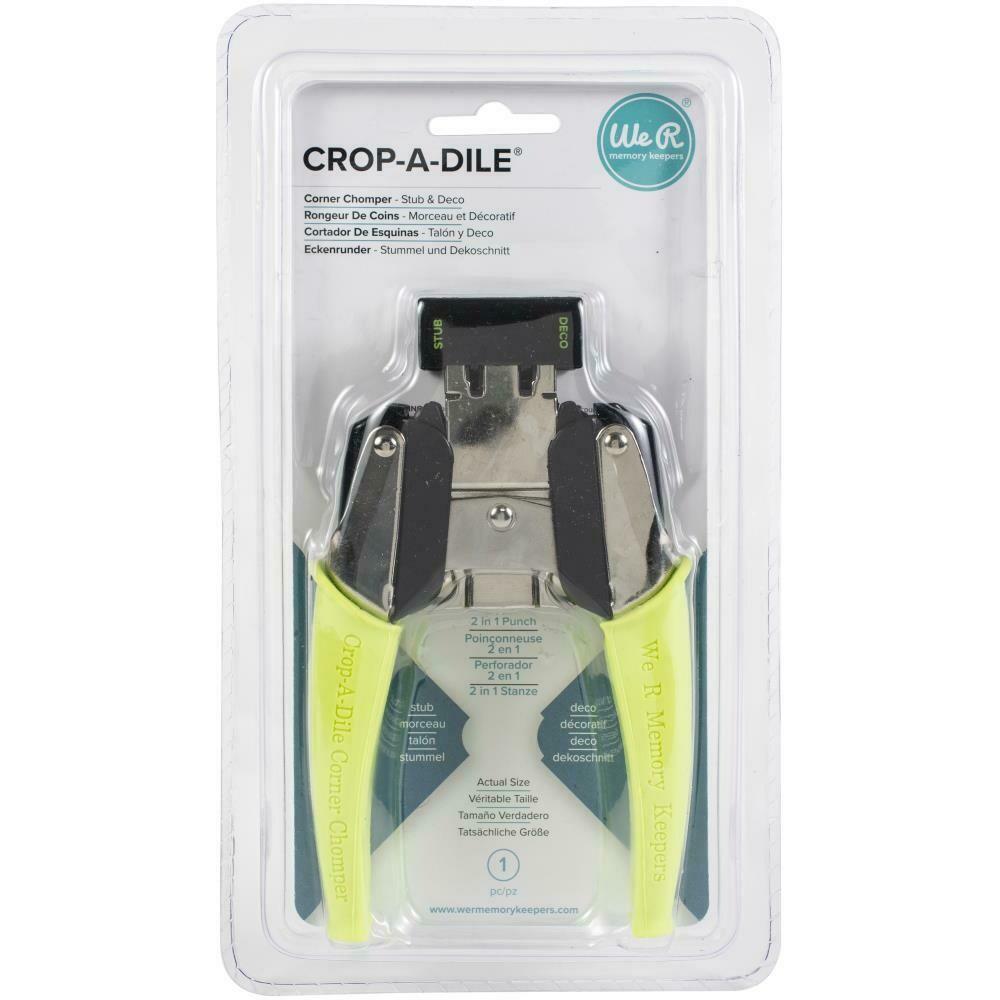 Crop-A-Dile Retro Corner Chomper Tool Stub & Deco