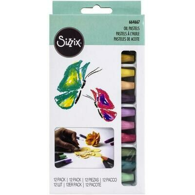 Sizzix Making Essential Oil Pastels 12/Pkg Assorted Colors