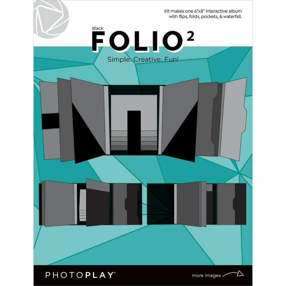 "Photoplay Folio 2  6""X8"" Black"