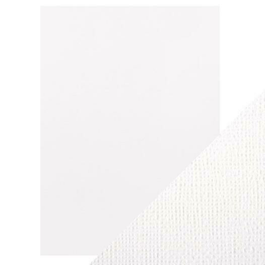 """Craft Perfect Weave Textured Classic Card 8.5""""X11"""" 10/Pkg Bright White"""