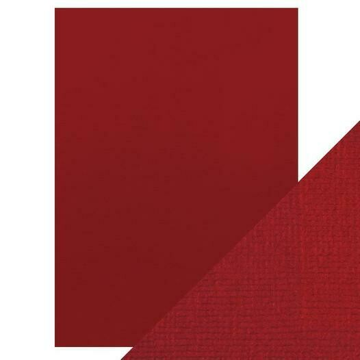 "Craft Perfect Weave Textured Classic Card 8.5""X11"" 10/Pkg Cherry Red"