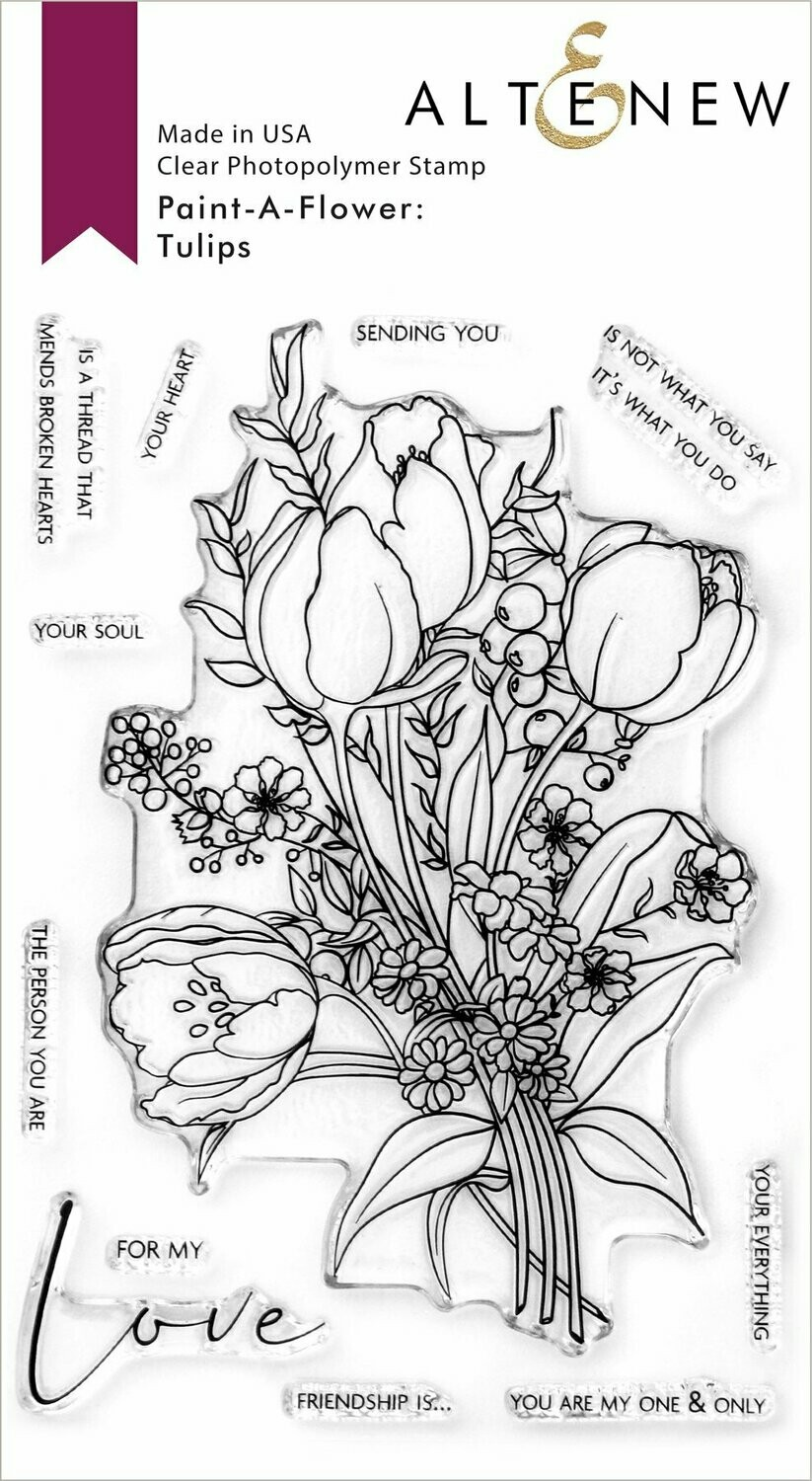 Paint-A-Flower: Tulips Outline Stamp Set