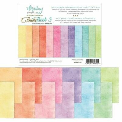 Mintay Papers Basic Book 3 Backgrounds - Rainbow