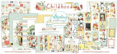 MIntay Papers Childhood 12 x 12 collection pack