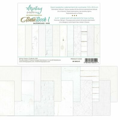 Mintay Papers Basic Book 1 Backgrounds White