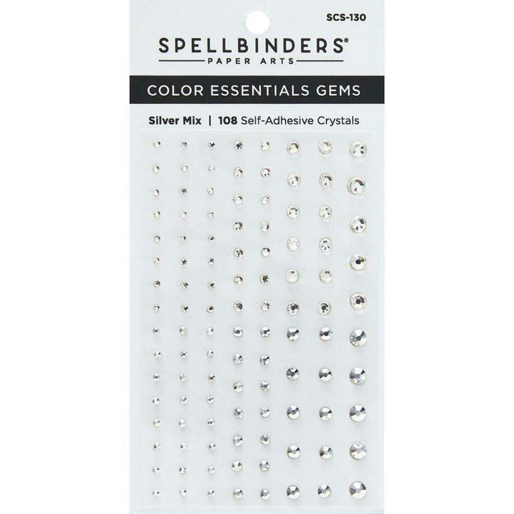 Spellbinders Color Essentials Gems 108/Pkg Silver Mix