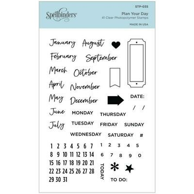 Spellbinders Clear Acrylic Stamps Plan Your Day