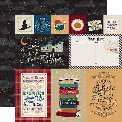 Echo Park Witches & Wizards Double-Sided Cardstock 12