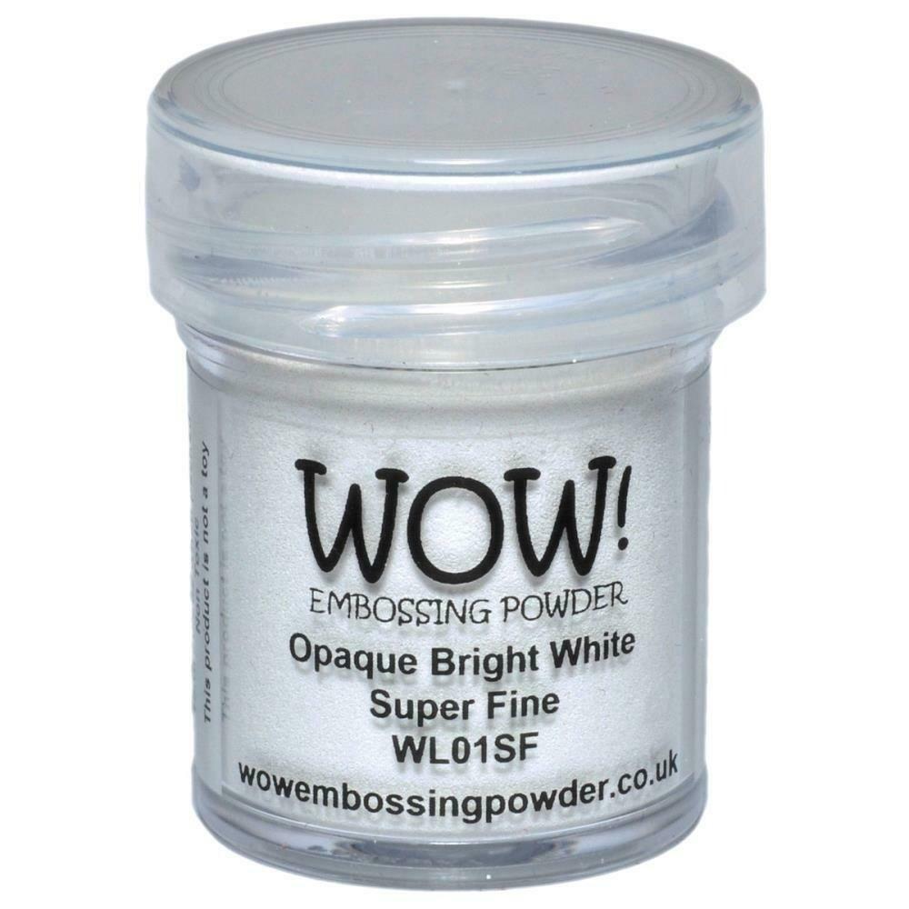 WOW! Embossing Powder Super Fine 15ml Opaque Bright White