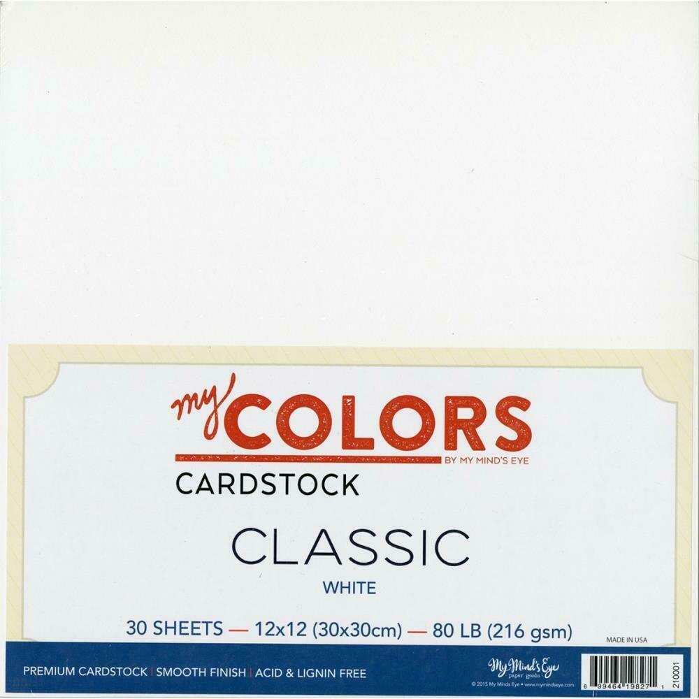 """My Colors Classic Cardstock Bundle 12""""X12"""" 30/Pkg White"""