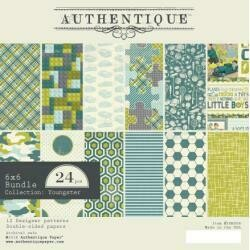 """Authentique Double-Sided Cardstock Pad 6""""X6"""" 24/Pkg Youngster, 6 Designs/4 Each"""