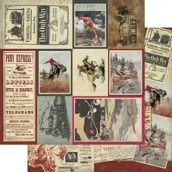 """Authentique Manly Double-Sided Cardstock 12""""X12"""" #8 Multi Size Cut-Apart Cards"""