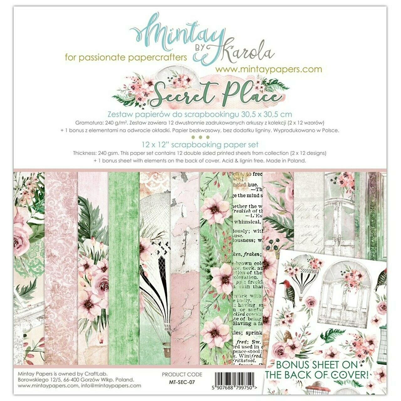 Mintay Papers - Secret Place - 12 x 12 Collection