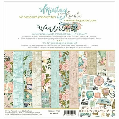 Mintay Wanderlust 12x12 Collection Pack