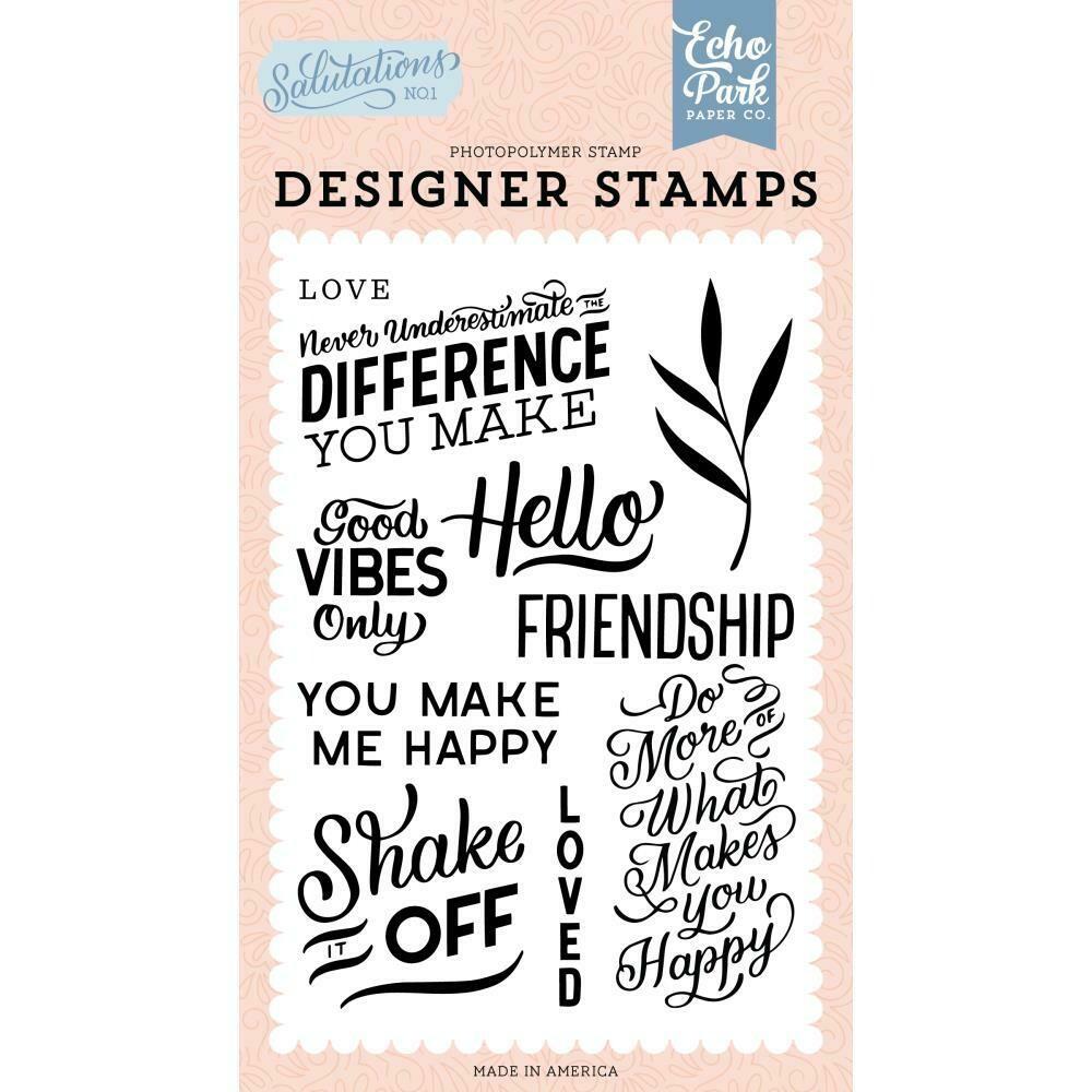 Echo Park Salutations No. 1 Stamps You Make Me Happy