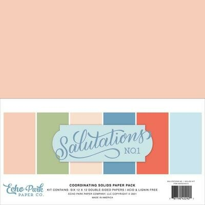 Echo Park Salutations No. 1 Solid Cardstock 12