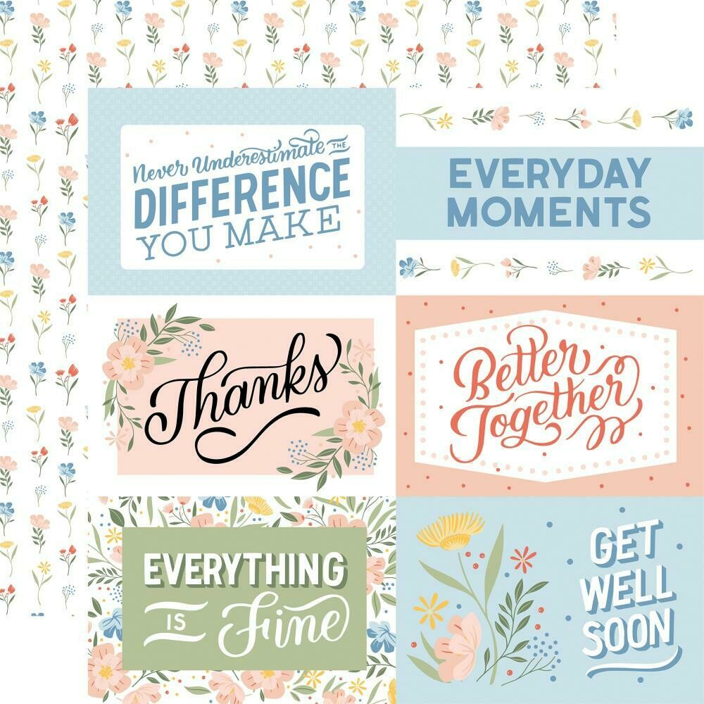 """Salutations No. 1 Double-Sided Cardstock 12""""X12"""" 6""""X4"""" Journaling Cards"""