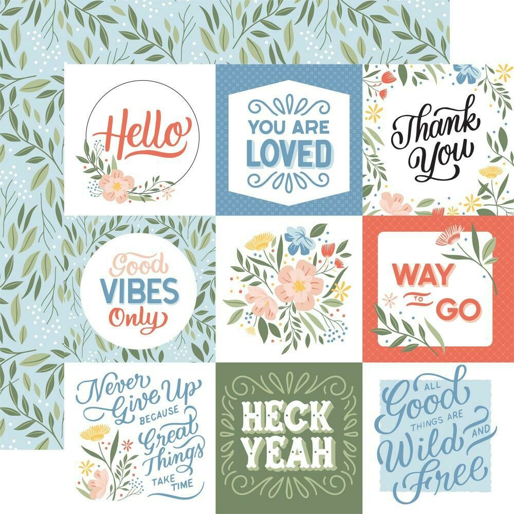 """Salutations No. 1 Double-Sided Cardstock 12""""X12"""" Jounaling Cards"""