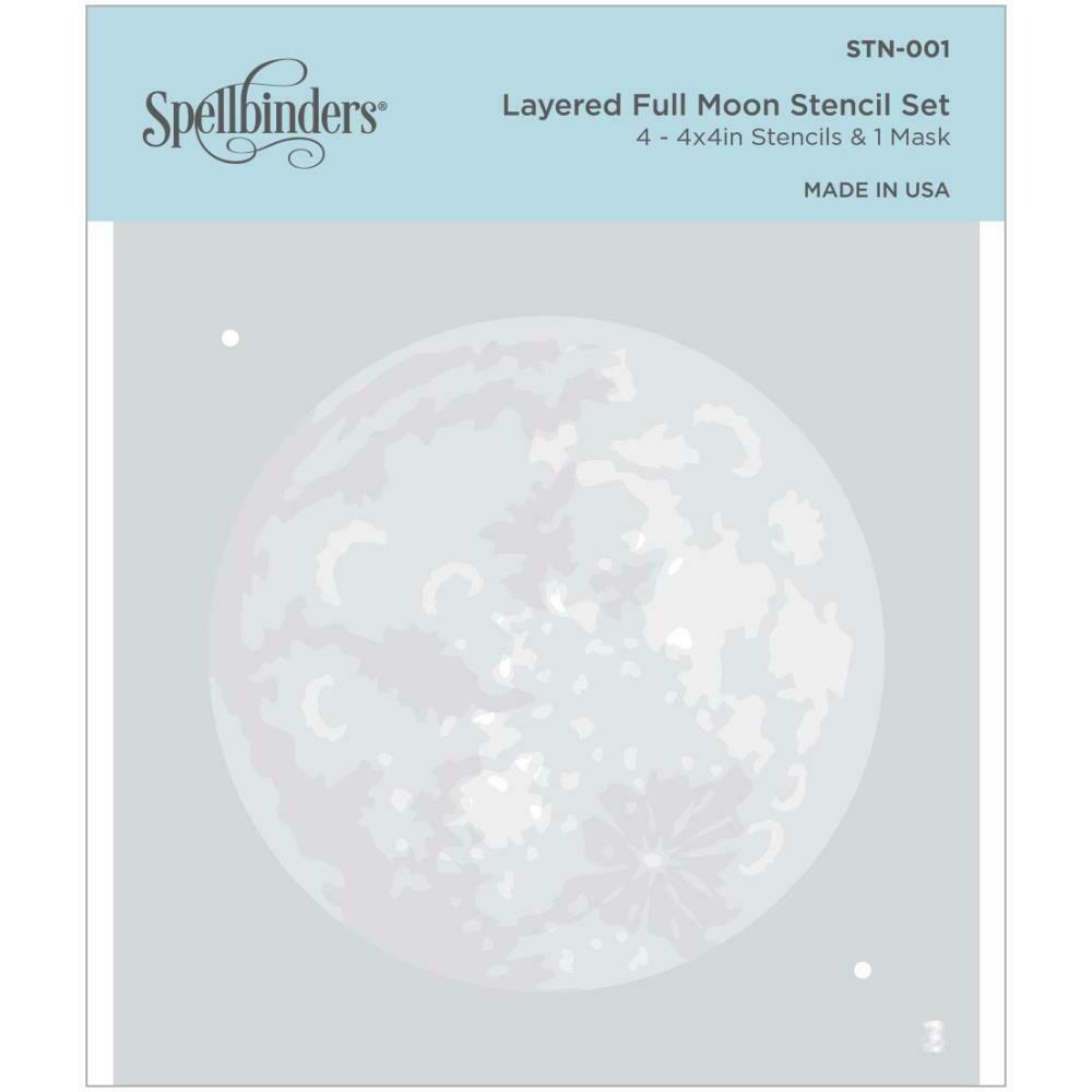 Spellbinders Stencil Layered Full Moon