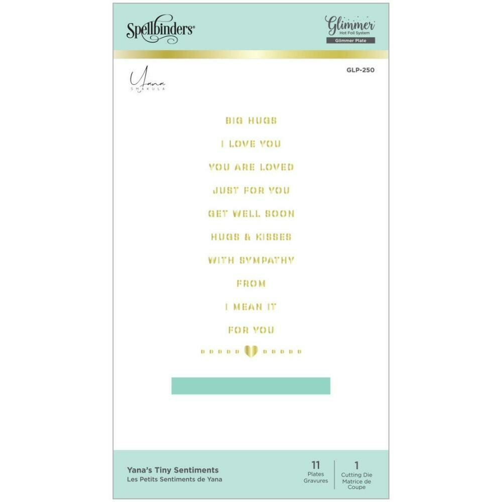 Spellbinders Glimmer Hot Foil Plates By Yana Smakula Tiny Sentiments