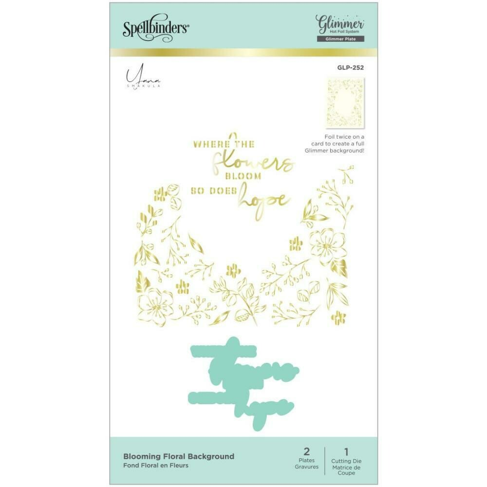 Spellbinders Glimmer Backgrounds Hot Foil Plate Blooming Floral