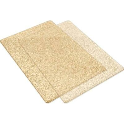 Sizzix Big Shot Cutting Pads Clear W/Gold Glitter