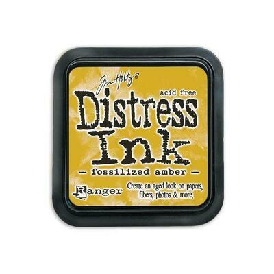 Tim Holtz Distress Ink Pad Fossilized Amber