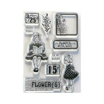 Elizabeth Craft Clear Stamps Planted With Love